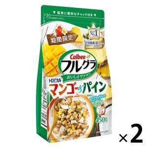 カルビー フルグラ トロピカルマンゴー&パイン 450g 1セット(2袋)|y-lohaco