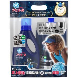 アウトレットP&G アリエール プラチナスポーツ 本体750g + 詰め替え720g ペアパック 洗濯洗剤 1セット