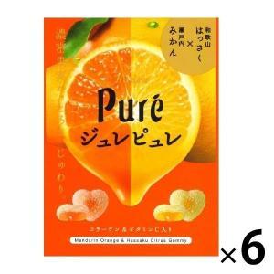カンロ ジュレピュレ瀬戸内みかん&和歌山はっさく 63g 1セット(6袋)