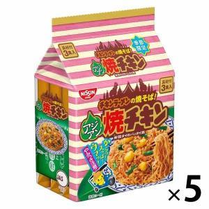 アウトレット日清食品 アジアン焼チキン 具付き3食パック 1セット(5袋)|y-lohaco