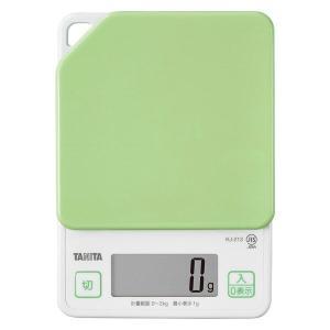 タニタ(TANITA) キッチンスケール 2kg アボカドグリーン KJ-213 1台 計量器 クッキングスケール|LOHACO PayPayモール店