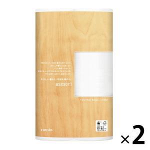 トイレットペーパー 6ロール入 パルプ シングル 120m ネピアasmori(アスモリ) 1セット(6ロール×2パック) 王子ネピア|LOHACO PayPayモール店