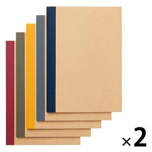 無印良品 植林木ペーパー裏うつりしにくいノート5冊組 B5 2組 良品計画