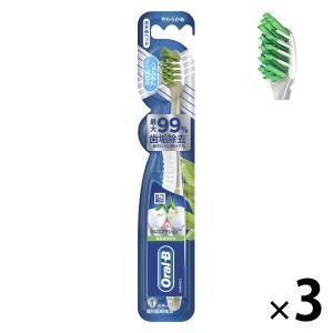 オーラルB クロスアクション 緑茶成分配合 大きめ やわらかめ 1セット(3本) P&G 歯ブラシ