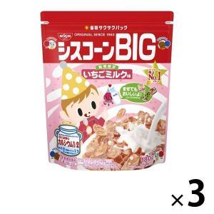 日清シスコ シスコーンBIG いちごミルク味 3袋 シリアルの画像