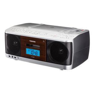 アウトレット 東芝 CDラジカセ 高音質スピーカー ボーカルダウン機能 TY-CDK9(S) 1台