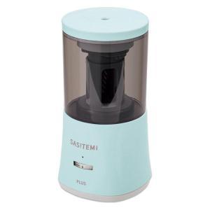 プラス スーパー全自動鉛筆削り SASITEMI(サシテミ) ブルー 青 電動 FS-760|LOHACO PayPayモール店