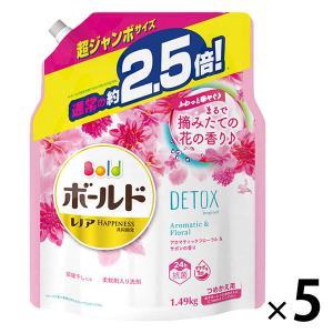 ボールド アロマティックフローラルの香り 詰め替え 超ジャンボ 1490g 1セット(5個入) 洗濯洗剤 P&G|LOHACO PayPayモール店
