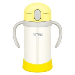 サーモス(THERMOS) 水筒 まほうびんのベビーストローマグ 350ml イエローホワイト FJL-350 YWH 1個|LOHACO PayPayモール店