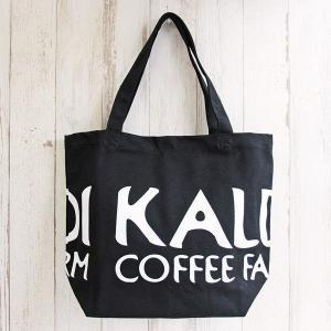 カルディコーヒーファーム オリジナル トートバッグ黒 布製 1個|y-lohaco