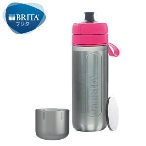 セール  ブリタ(BRITA) 水筒 直飲み 携帯 浄水 ボトル フィル&ゴーアクティブ ピンク 6...