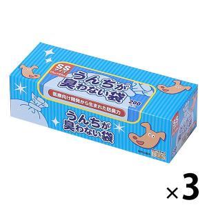 うんちが臭わない袋 BOS ペット用箱 SS 200枚 1セット(3個) クリロン化成|y-lohaco