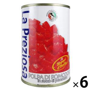 カルディコーヒーファーム ラ・プレッツィオーザ ダイストマト缶 400g 1セット(6缶) 素材缶詰