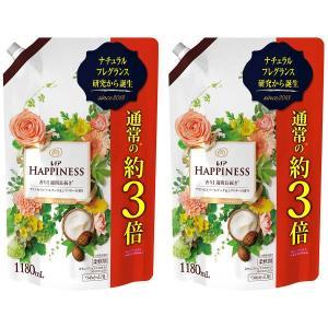 レノアハピネス ナチュラルフレグランス プリンセスパールブーケ&シアバターの香り 超特大 詰め替え 1180ml 1セット(2個入) 柔軟剤 P&G