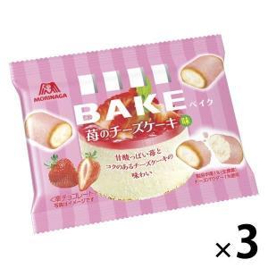 森永製菓 ベイク 苺のチーズケーキ味  3袋