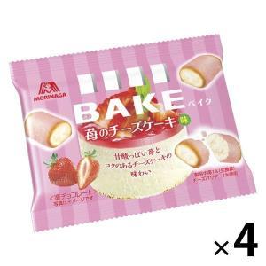 森永製菓 ベイク 苺のチーズケーキ味  4袋