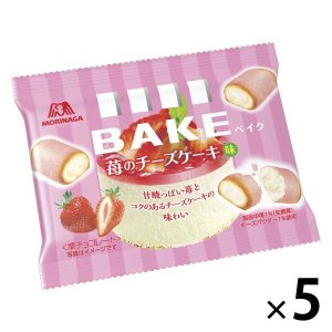 森永製菓 ベイク 苺のチーズケーキ味  5袋