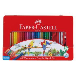 シヤチハタ 水彩色鉛筆 ファーバーカステル 48色セット TFC-WCP/48C