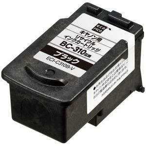 キヤノン用 エコリカ リサイクルインク ECI-C310B-V ブラック(BC-310互換)
