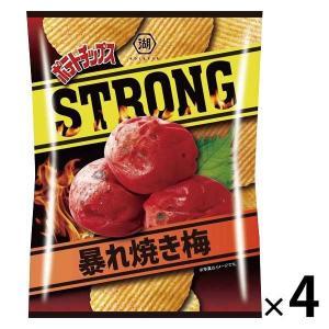 湖池屋 ポテトチップスSTRONG 暴れ焼き梅 4袋