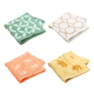 福袋  ロハコ限定  ミニバスタオル ジャガード デザインアソート 4枚セット 抗菌防臭加工