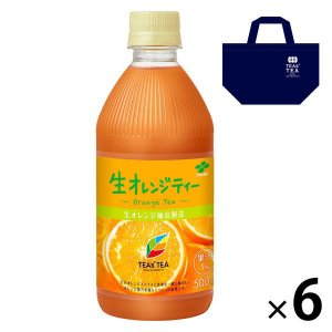 セット品 伊藤園 TEAS'TEA(ティーズティー) 生オレンジティー 500ml 6本 + オリジ...
