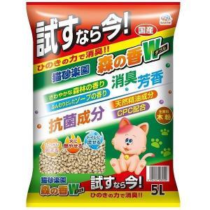 サンプル 猫砂楽園 森の香ダブル 5L 1袋 アースペット