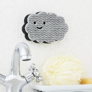 ペタッ と貼りつくスポンジ お風呂用 バスクリーナー 1個 ロハコ (LOHACO) オリジナル