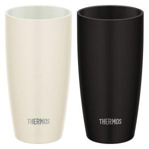サーモス(THERMOS) 真空断熱タンブラー ホワイト ブラック 陶器風ペアタンブラー セット マ...