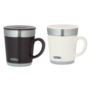 サーモス(THERMOS) 保温マグカップセット 350ml ホワイト エスプレッソ JDC-351 ペアマグカップ|LOHACO PayPayモール店