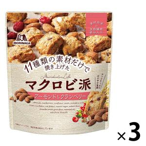 森永製菓 マクロビ派 アーモンドとクランベリー 100g 3袋