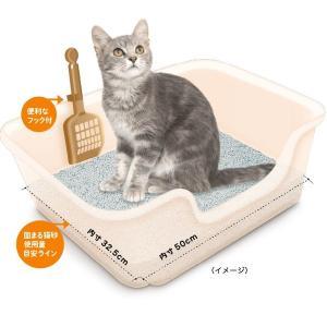 ニオイをとる砂 獣医師開発 猫トイレ ゆったりサイズ 国産 本体 ライオン