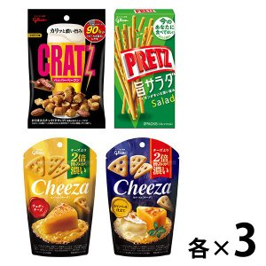 LOHACO限定 江崎グリコ クラッツ&チーザ&プリッツ 4種アソートセット