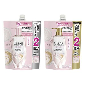 CLEAR(クリア) ナチュラルグロス スカルプ シャンプー&コンディショナー(各600g) 特大 ...