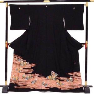 着物のみの販売です  ■素材 着物:表地正絹 胴裏:交織 八掛け:正絹  ■着物サイズ  身丈:約1...