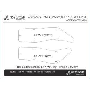 ASTERISM プリウスα(プリウスアルファ) コンソール土手マット|y-mt