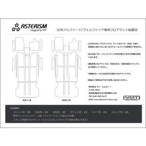 ASTERISMフロアマット 20系アルファード/ヴェルファイア フロアマット+ラゲッジ+ステップマット 送料無料|y-mt|05