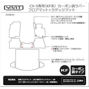 新型 CX5 フロアマット+ラゲッジマット カーボン調ラバー KF系CX-5|y-mt|10