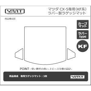新型CX-5 KF系  ラバー製ラゲッジマット(トランクマット)  YMTフロアマット|y-mt|06