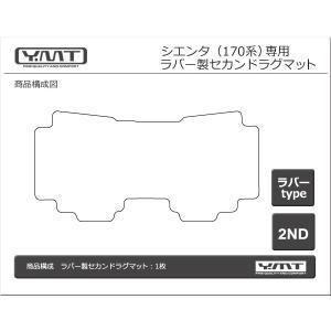 新型 シエンタ 170系 ラバー製セカンドラグマット YMT|y-mt|06