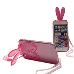 スマホケース おしゃれ iPhone6plus iPhoneS6plus カバー スマホカバー 5.5インチ うさ耳 透明 シリコン製 ケース|y-mty