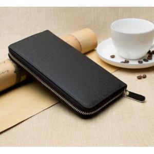 長財布 メンズ おしゃれ ラウンドファスナー カード8枚 スマホも入る財布|y-mty