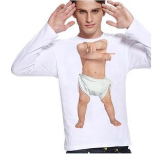Tシャツ メンズ おしゃれ カットソー おもしろ トップス 赤ちゃん 長袖 トップス ベビーダンサー サイズM カジュアルシャツ btab181|y-mty