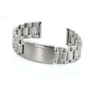 腕時計 交換バンド ベルト ステンレス プッシュ式 直カン 3連 18mm 20mm 22mm|y-mty