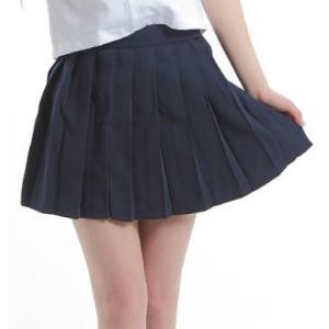 プリーツスカート レディース おしゃれ ミニ セクシー 紺色 制服スカート スクールスカート ミニスカート 膝上丈 ダンス衣装 無地|y-mty