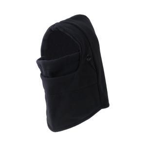 色: ブラック   フリーサイズの汎用フェイスマスク。  防寒抜群のフリース素材採用。 マスク、ネッ...