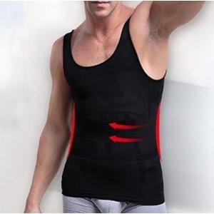 スポーツシャツ メンズ おしゃれ Mサイズ  加圧 タンクトップ アンダーウェア インナー 脂肪燃焼 加圧 黒  kgab302|y-mty