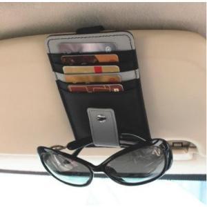 名刺入れ メンズ レディース おしゃれ カードケース サングラスホルダー付 多機能 車載用 ブラック kgab309|y-mty