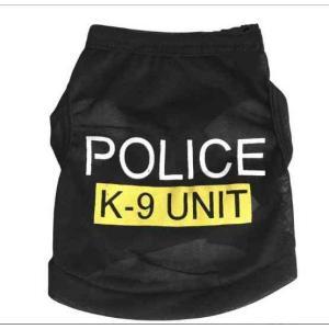 ドッグウエア M 犬 服 POLICE K9 ポリス タンクトップ Tシャツ 警察犬に大変身 ngab191 y-mty