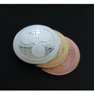 記念コイン ripple コイン シルバー 金運 バーチャルマネー メダル 仮想通貨 リップル コレクション用 ngab732 y-mty